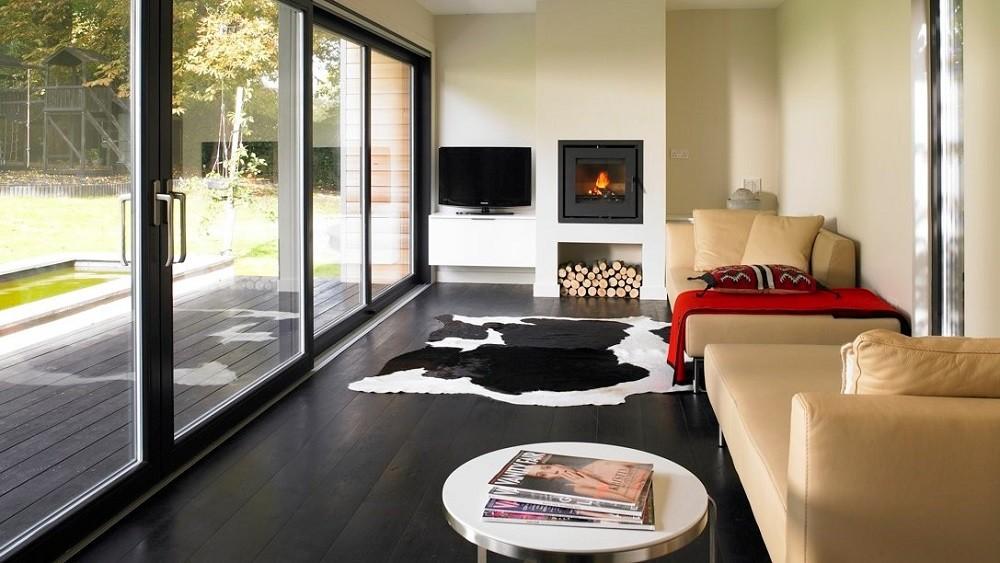 Cuberno garden room with woodburner