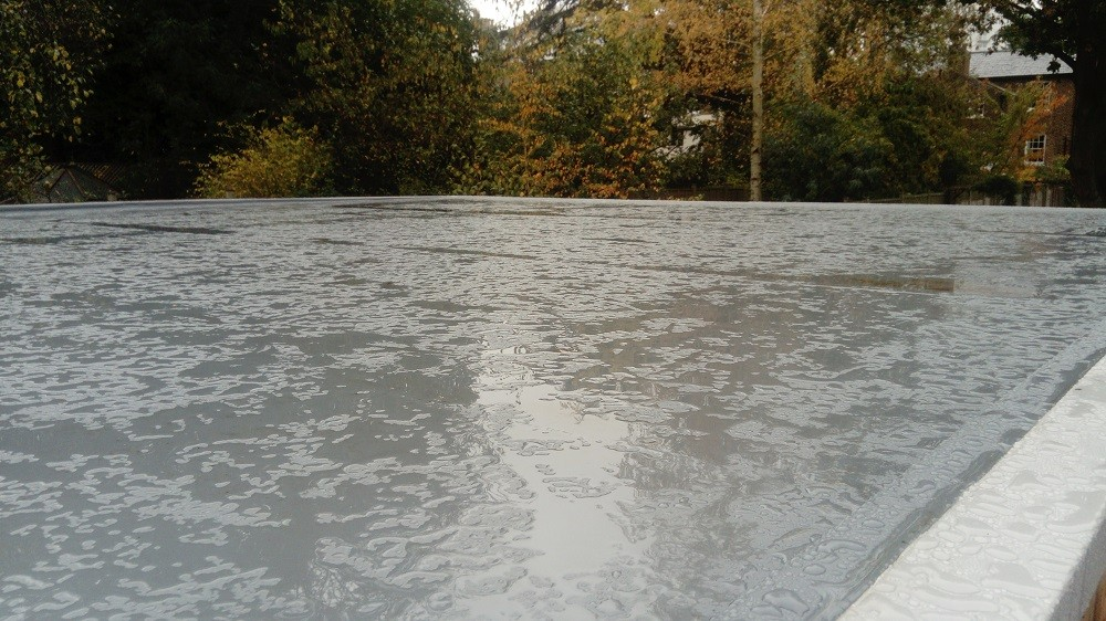 Waterproof roof membrane finishing fooor garden studios