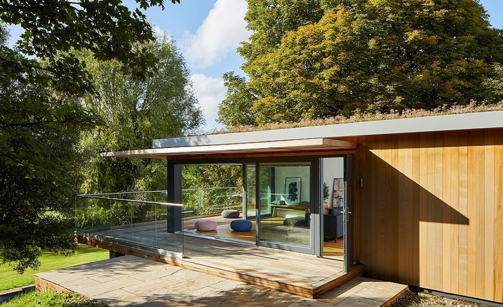 Stonehenge holiday home with green roof