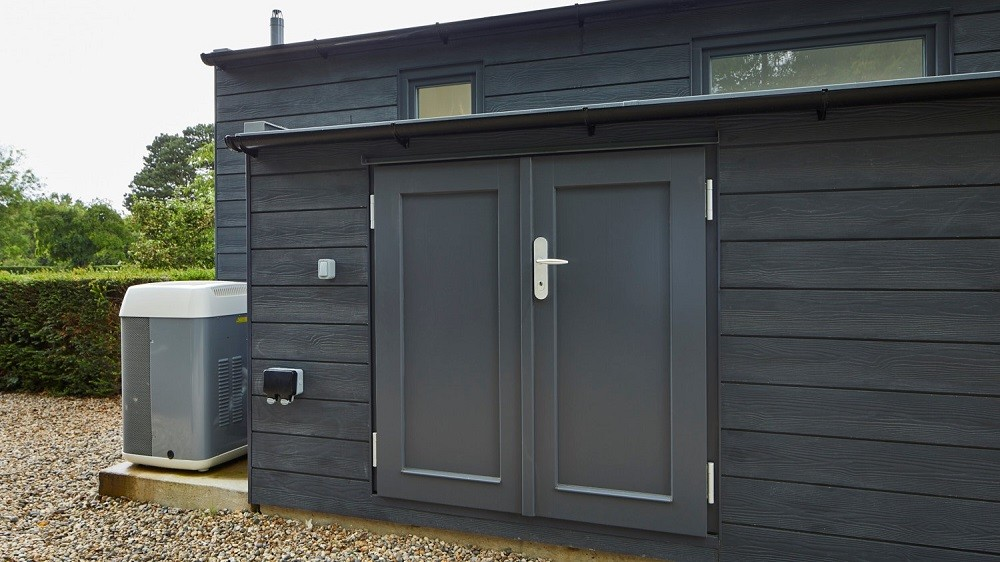 Bespoke garden room with composite cladding and storage