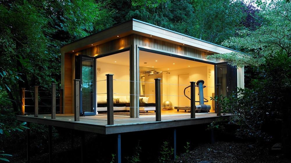 Bespoke garden studio with outdoor area