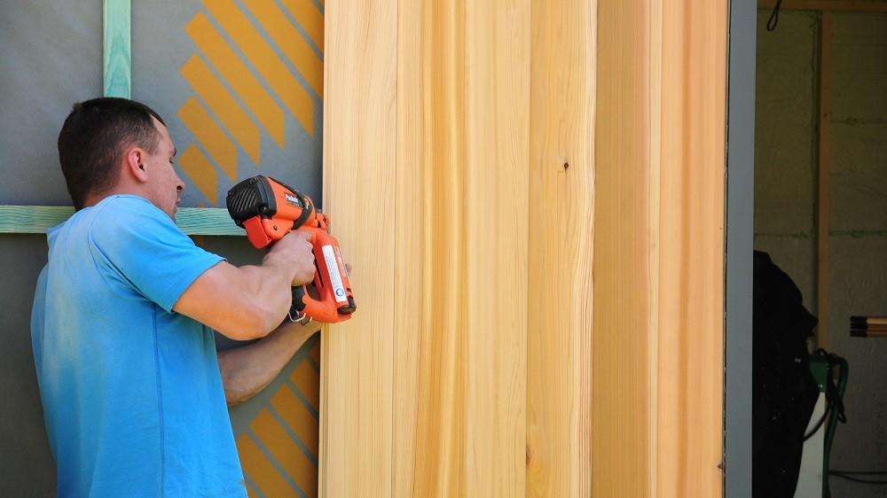 Western Red Cedar cladding for garden studios