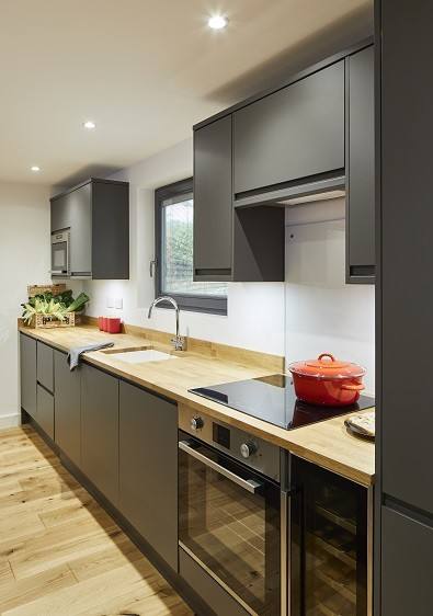Holiday home spacious contemporary kitchen
