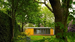 Contemporary garden room that provides a separate space for teenagersin Cobham