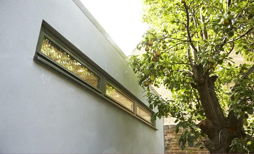 High lvel windows garden room