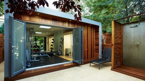 We created the perfect solution for a healthy lifestyle with a home gym and sauna room clad in Western Red Cedar.