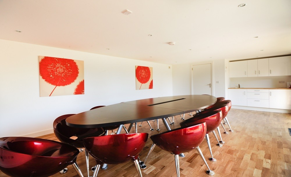 Meeting room for teachers with kitchenette
