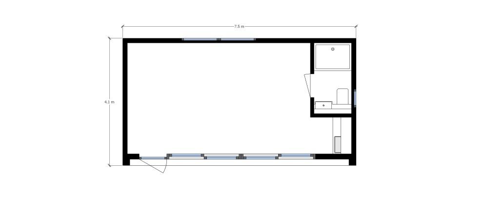 Floor plan of a Putney garden annexe