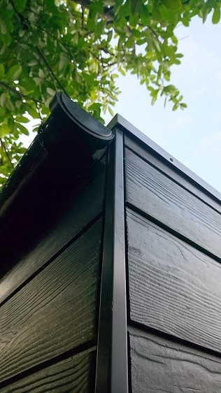 Rainwater goods systems for garden rooms