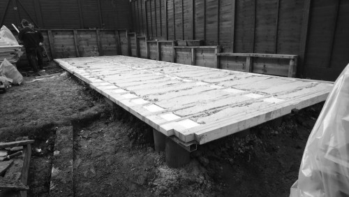 Construction of a bespoke garden room building in London