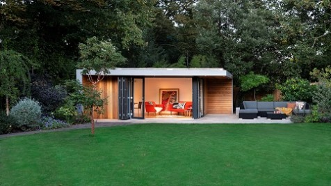 Garden office in a landscaped property in London