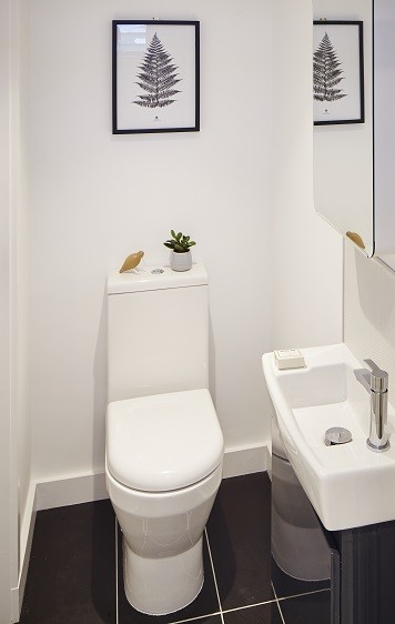 Garden office toilet for a project in London