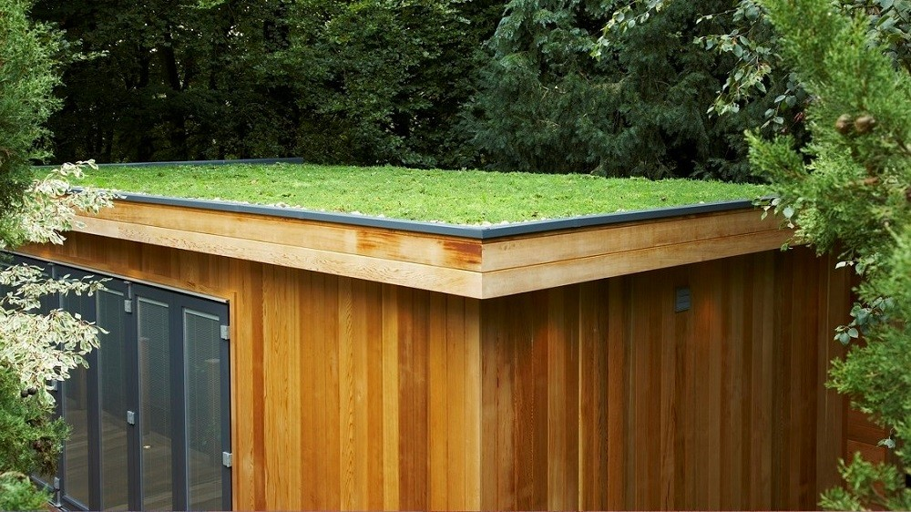 Bespoke garden office with eco-friendly green roof