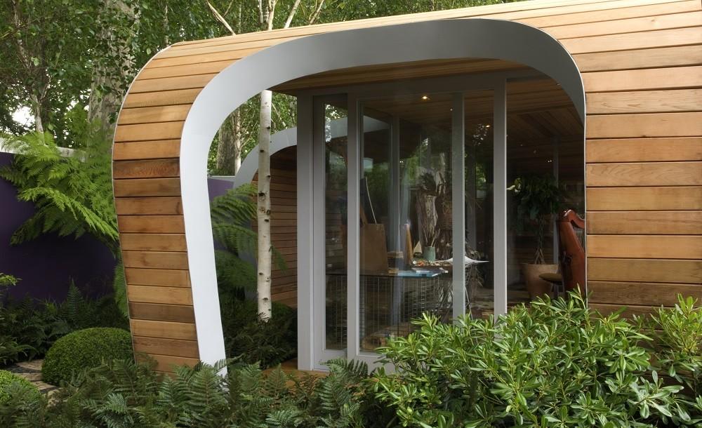 Futuristic architect designed garden office