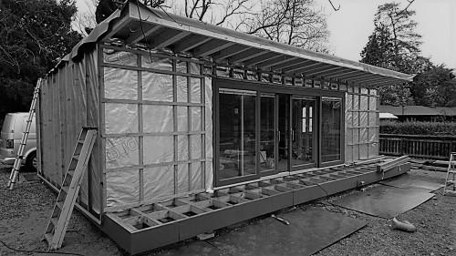 Erection of a bespoke garden poolside room