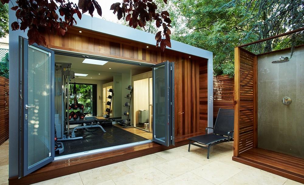 Cuberno garden gym with sauna