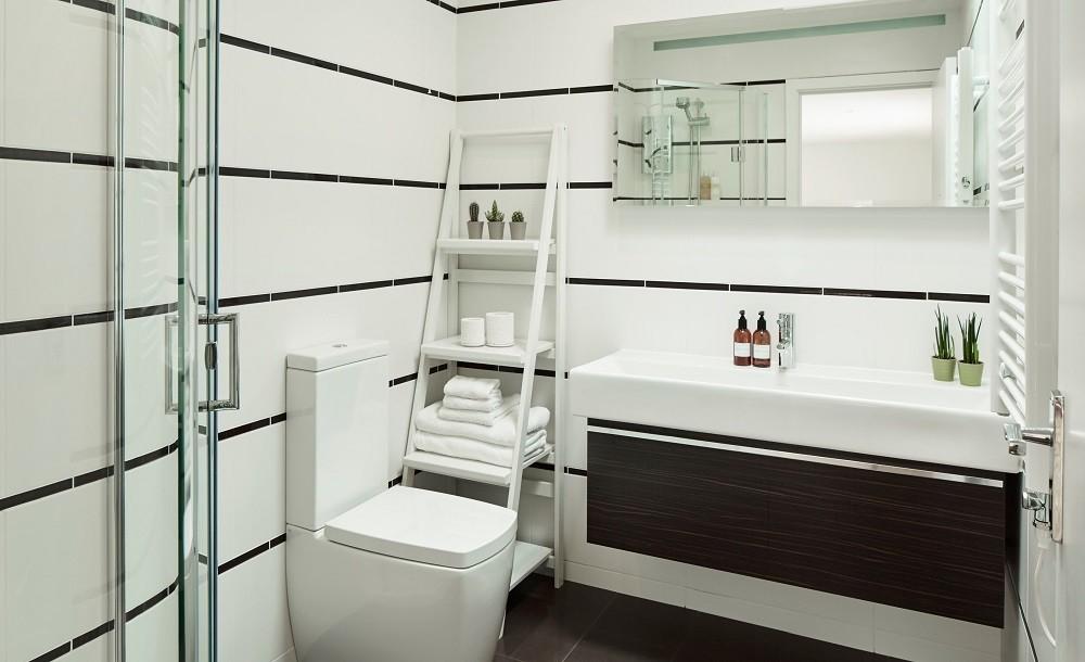 Shower room design for a garden studio