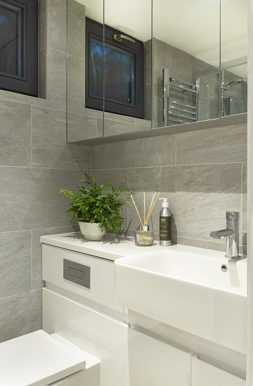 Garden room bathroom design