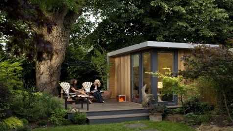 Richmond upon Thames- Surrey- solo garden room with decking area