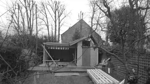 Construction of a bespoke garden gym in Wimbledon