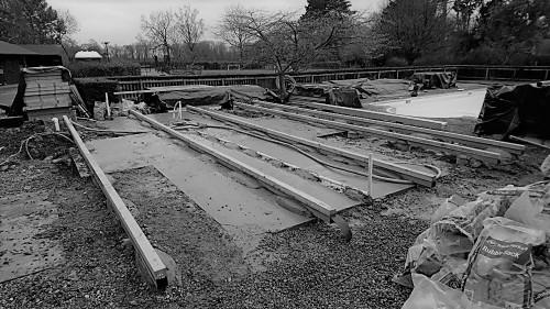 Base for a garden studio in Essex