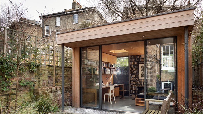 Bespoke office pod in a small London garden