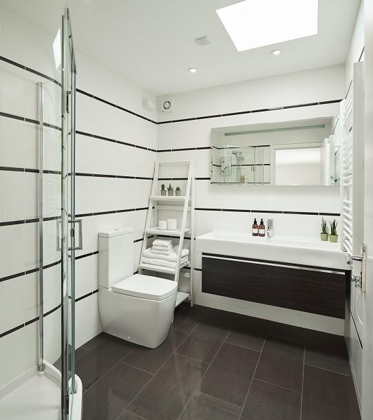 Shower room for a bespoke garden annex in Kent