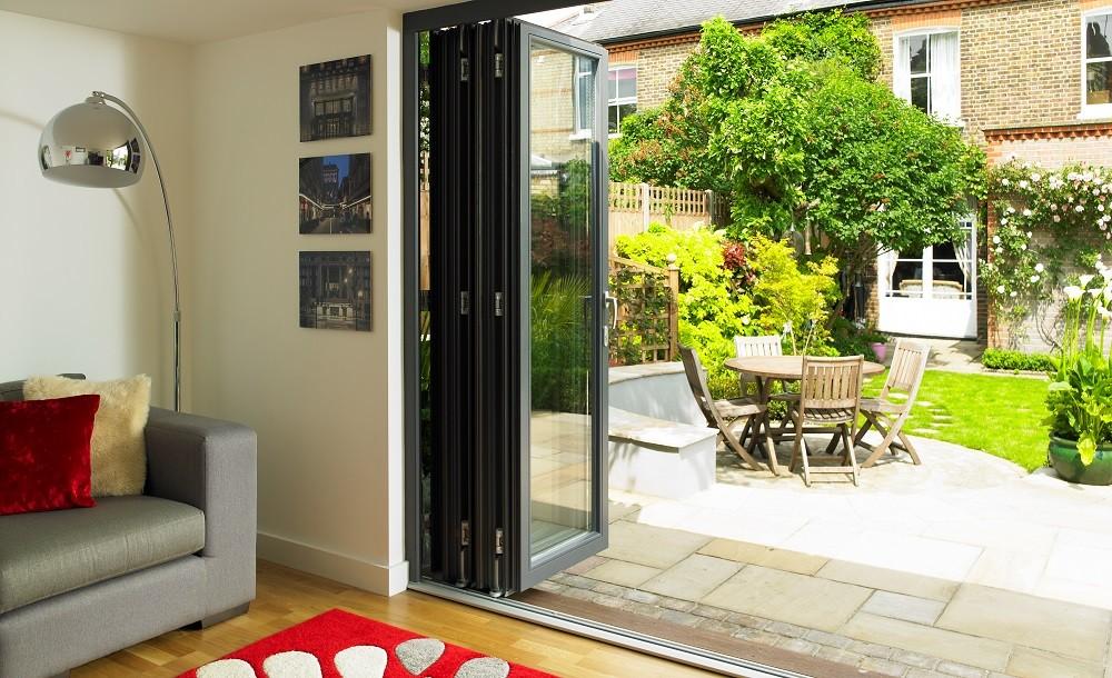 Garden room with bifolding door from Rooms Outdoor London