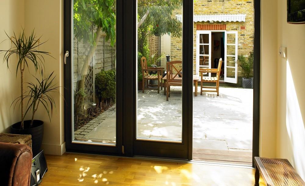 Double glazed doors in a garden room from Rooms Outdoor
