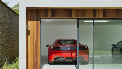 Garden room showroom car garage