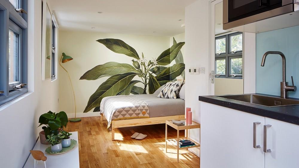 Self-contained garden studio with bedroom