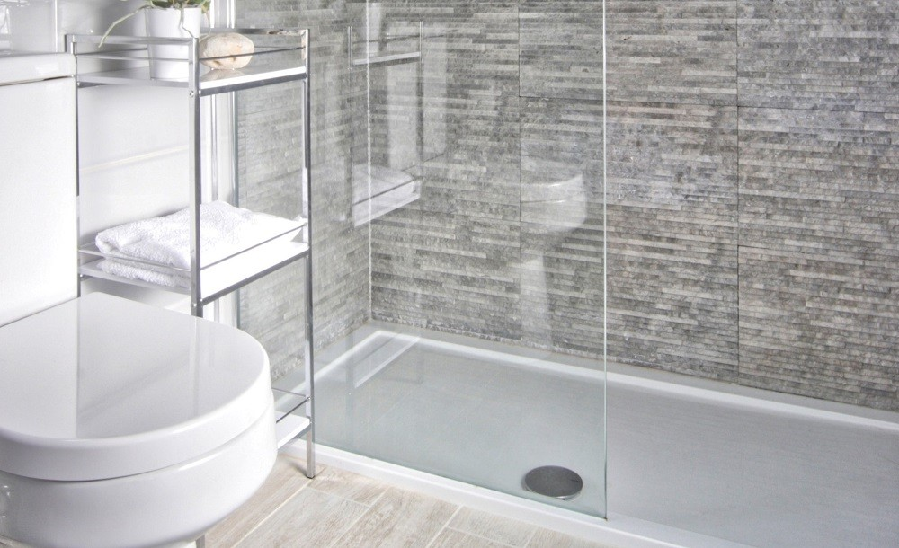 A stylish shower room by Rooms Outdoor for one of our garden annexes