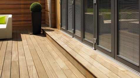 Garden Room Yellow balau decking detail