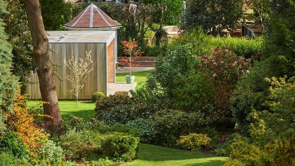 Garden office in a beautiful Colchester garden