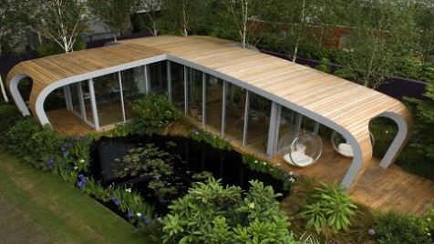 In this Chelsea Flower Show garden design, Diarmuid Gavin has chosen a somewhat futuristic garden room.