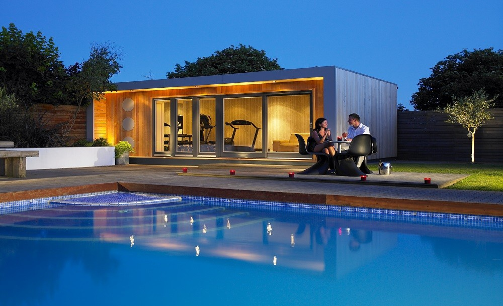 Poolside garden studio and gym