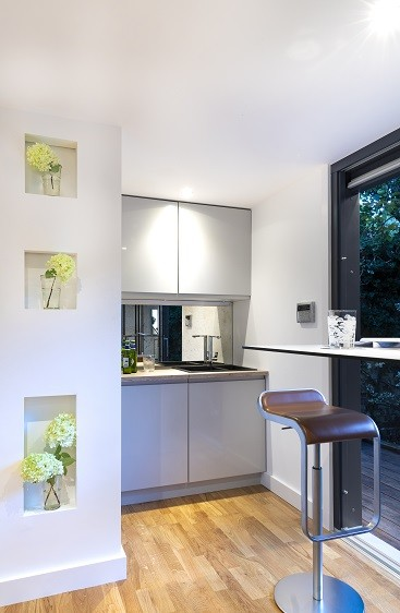 Garden annexe with kitchenette