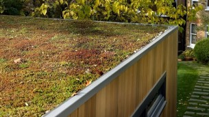 Graden room Sedum roof detail